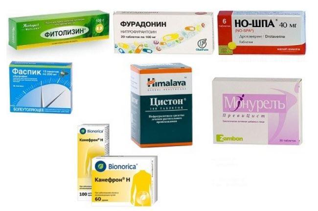 Какие лекарства пить при цистите