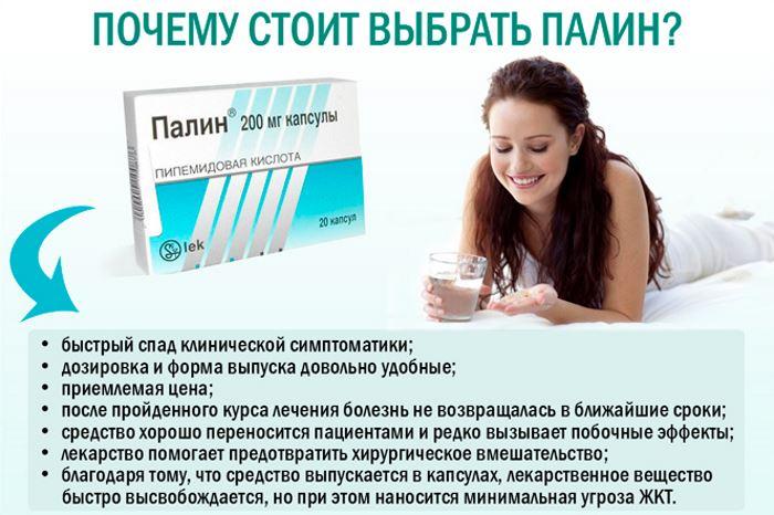 Таблетки Палин инструкция по применению как принимать при цистите