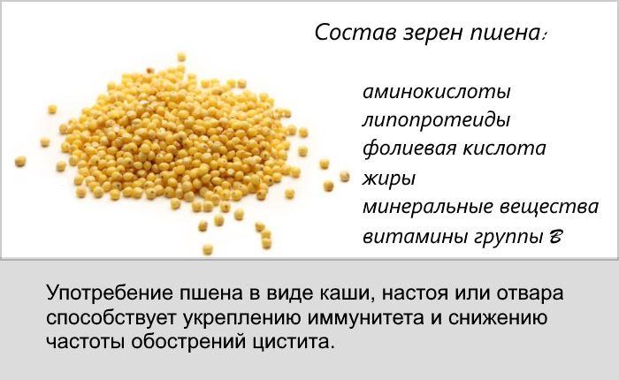 Народное средство от мочевого пузыря с пшеном